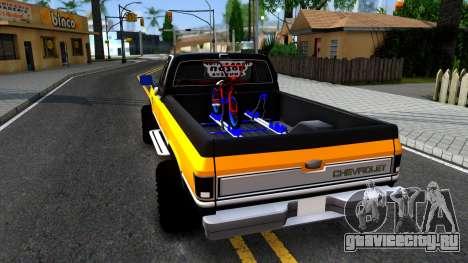 Chevrolet Silverado K-10 2500 1986 для GTA San Andreas вид сзади слева