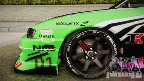 Nissan Silvia S14 D1GP Itasha для GTA San Andreas вид сзади слева