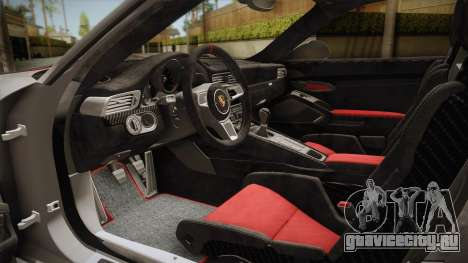 Porsche 911 R (991) 2017 v1.0 Red для GTA San Andreas вид сбоку