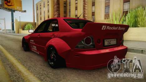 Lexus IS300 Rocket Bunny для GTA San Andreas вид справа