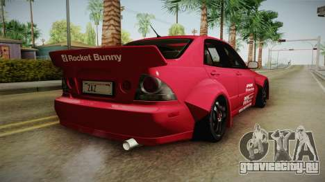 Lexus IS300 Rocket Bunny для GTA San Andreas вид слева