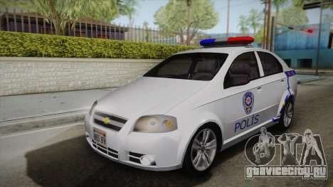 Chevrolet Aveo Turkish Police для GTA San Andreas