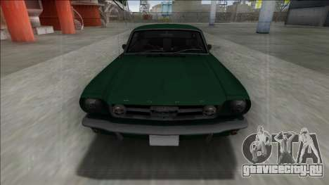 1965 Ford Mustang для GTA San Andreas вид сзади