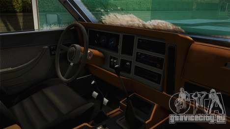 Jeep Wagoneer Off Road для GTA San Andreas вид изнутри