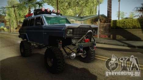 Jeep Wagoneer Off Road для GTA San Andreas вид справа
