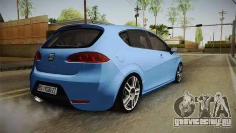 Seat Leon Cupra для GTA San Andreas вид слева