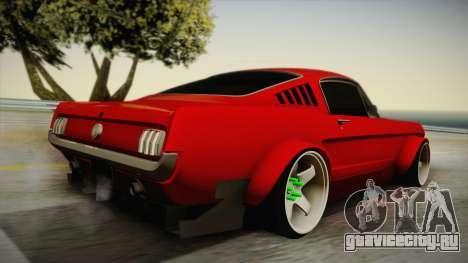 Ford Mustang Fastback 289 Wide Body 1966 для GTA San Andreas вид слева