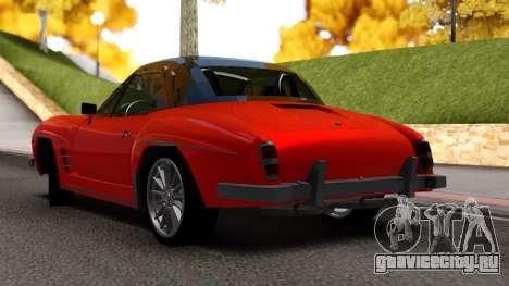 Mercedes 190 S для GTA San Andreas вид слева