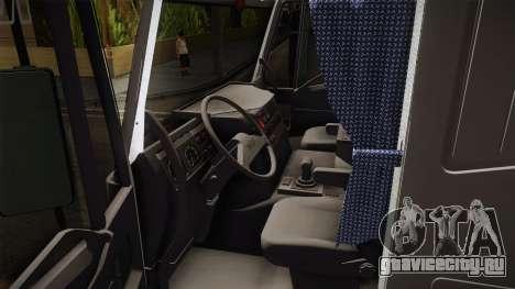 Iveco Eurotech 400E34 Tandem v2.0 для GTA San Andreas вид изнутри