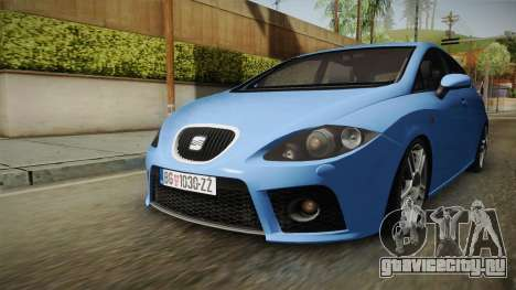 Seat Leon Cupra для GTA San Andreas вид справа
