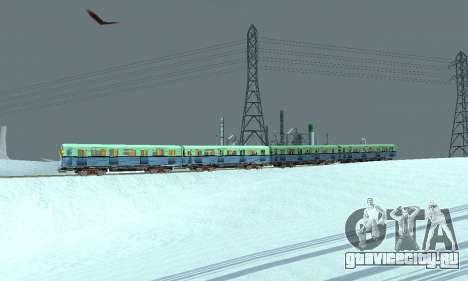 Состав типа Е ST_Metrostroi для GTA San Andreas вид сверху