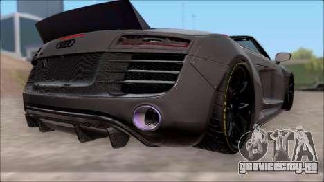 Audi R8 Spyder 5.2 V10 Plus LB Walk для GTA San Andreas вид слева