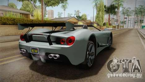 GTA 5 Vapid FMJ Roadster для GTA San Andreas вид сзади слева