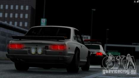 Nissan Skyline 3100 GT-Kai для GTA San Andreas вид сзади слева