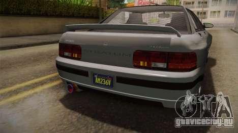 GTA 5 Zirconium Stratum Sedan для GTA San Andreas вид изнутри