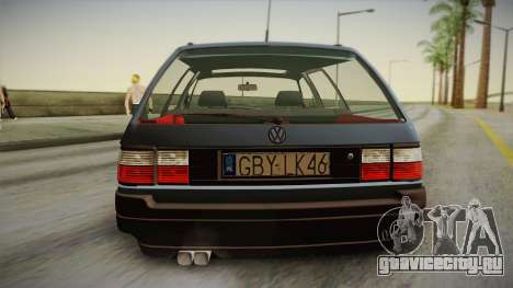 Volkswagen Passat B3 2.0 для GTA San Andreas вид сзади