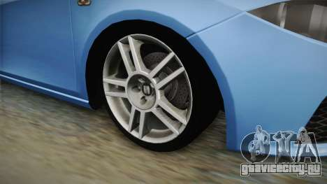 Seat Leon Cupra для GTA San Andreas вид сзади