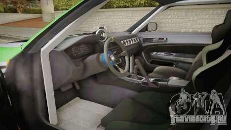 Nissan Silvia S14 D1GP Itasha для GTA San Andreas вид изнутри