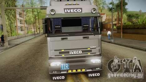 Iveco Eurotech 400E34 Tandem v2.0 для GTA San Andreas вид сзади слева
