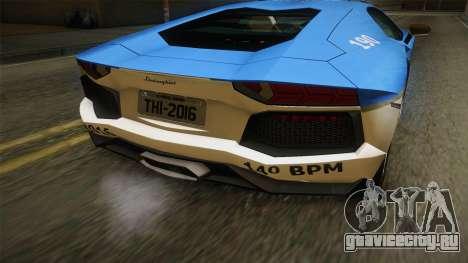 Lamborghini Aventador LP700-4 PMERJ для GTA San Andreas вид сбоку