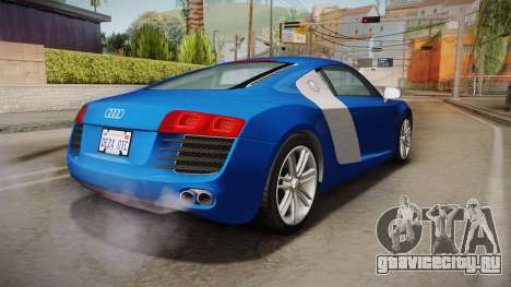 Audi Le Mans Quattro 2005 v1.0.0 Dirt для GTA San Andreas вид слева