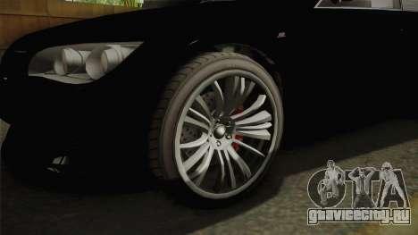 GTA 5 Ubermacht Sentinel Sedan для GTA San Andreas вид сзади