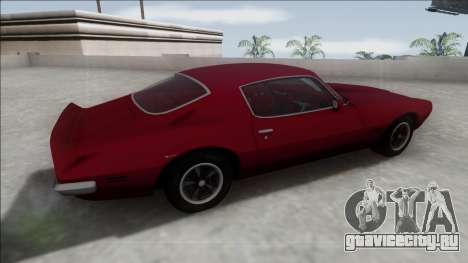 1970 Pontiac Firebird для GTA San Andreas вид слева
