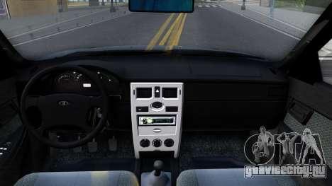 ВАЗ 2170 V3 для GTA San Andreas вид изнутри