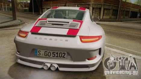 Porsche 911 R (991) 2017 v1.0 Red для GTA San Andreas вид сверху