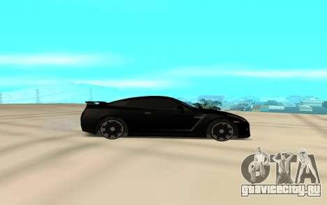 Nissan GT-R 35 для GTA San Andreas вид слева