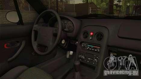 Mazda MX-5 1994 для GTA San Andreas вид изнутри