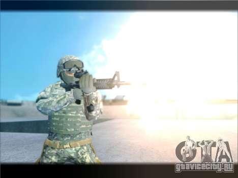 New Military USA Skin для GTA San Andreas третий скриншот