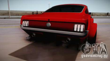 Ford Mustang Fastback 289 Wide Body 1966 для GTA San Andreas вид справа