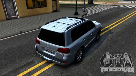 Toyota Land Cruiser 200 2016 PML Edition для GTA San Andreas вид сзади