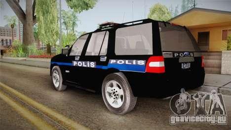 Ford Ranger Police для GTA San Andreas вид слева