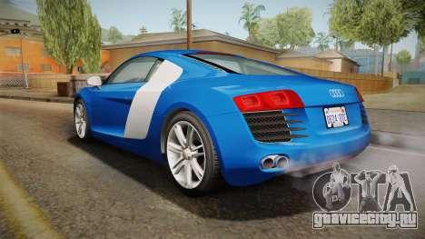 Audi Le Mans Quattro 2005 v1.0.0 Dirt для GTA San Andreas вид сзади слева
