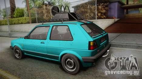 Volkswagen Golf Mk2 1991 для GTA San Andreas вид слева