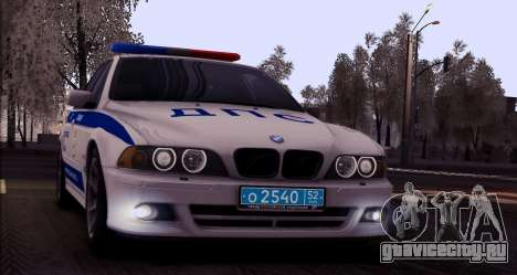 BMW E39 540i Russian Police для GTA San Andreas вид сзади