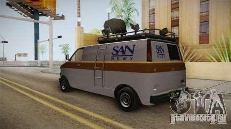 GTA 5 Declasse Burrito News для GTA San Andreas вид справа