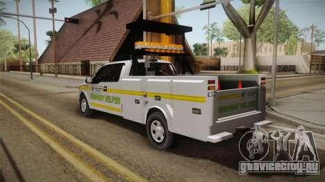Ford F-150 2005 San Andreas DOT Highway Helper для GTA San Andreas вид слева