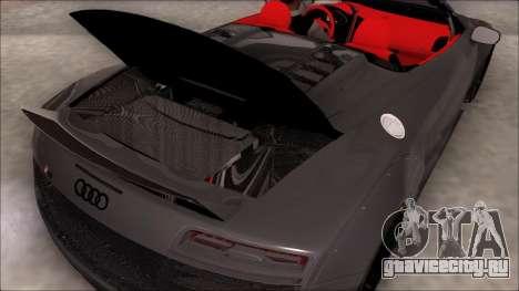 Audi R8 Spyder 5.2 V10 Plus LB Walk для GTA San Andreas вид сзади