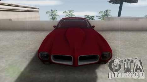 1970 Pontiac Firebird для GTA San Andreas вид сзади