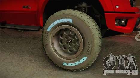 Ford F-150 Raptor 2014 для GTA San Andreas вид сзади