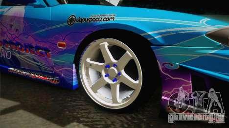 Nissan Silvia S15 Cirno Touho Project Itasha для GTA San Andreas вид сзади