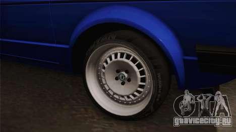 Volkswagen Golf Mk1 для GTA San Andreas вид сзади