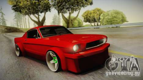 Ford Mustang Fastback 289 Wide Body 1966 для GTA San Andreas