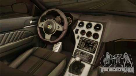 Alfa Romeo 159 для GTA San Andreas вид изнутри