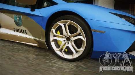 Lamborghini Aventador LP700-4 PMERJ для GTA San Andreas вид сзади