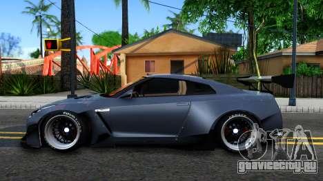 Nissan GT-R35 Rocket Bunny для GTA San Andreas вид слева