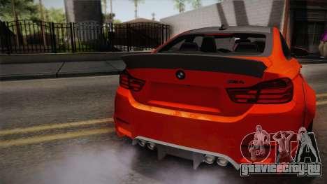 BMW M4 LB Performance для GTA San Andreas вид сзади